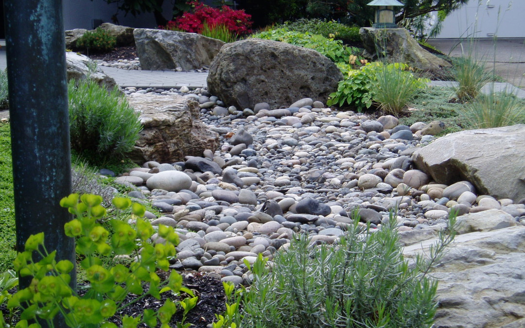 Winter Landscaping With Decorative Rock Portland And