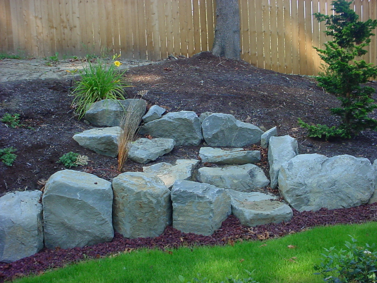 Landscape boulders wall rock portland rock and How to landscape
