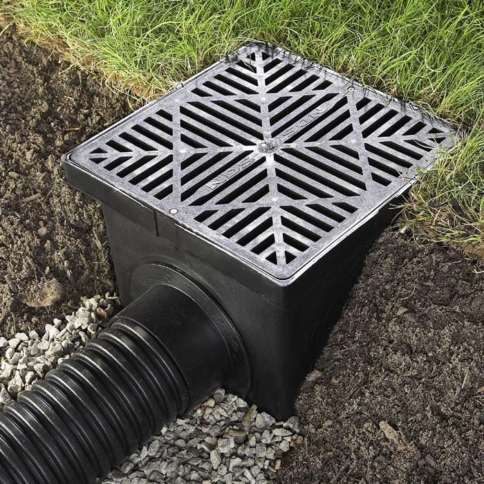 How to make a yard drainage system portland rock and for Installing a drainage system in your yard