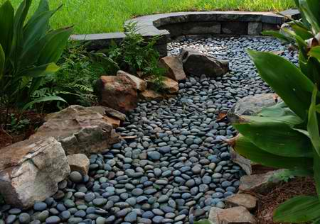 how to make a yard drainage system portland rock and