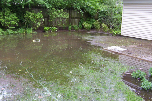 How do i get my landscape ready for winter portland for Backyard flooding solutions